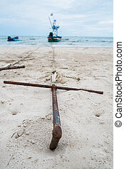 Anchor on the beach