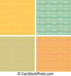 Seamless pattern set - Abstract seamless pattern set Eps 10...