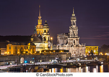 Dresden Germany - Dresden, Germany cityscape over the Elbe...