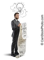 Idea for a new strategy - Businessman with new idea for a...
