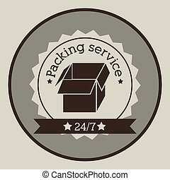 packing service over gray background vector illustration