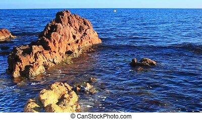 Rocks on sea coast.