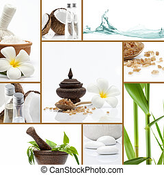 spa object - Spa theme photo collage composed of different...