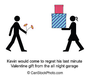 Valentine - Kevin regretted going cheap for Valentines Day...