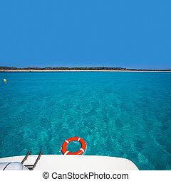 Formentera Illetes Illetas with round buoy - Formentera...
