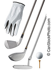 golf equipment, isolated, can be used individually