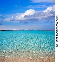 Illetes Illetas beach in Formentera Balearic Islands -...