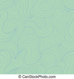 Marine seamless - Vector seamless pattern with abstract wavy...