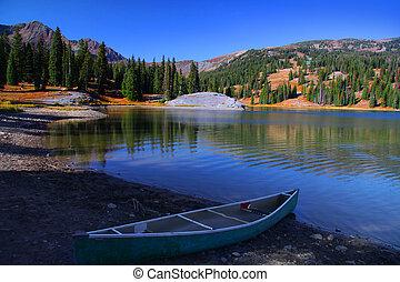Lake Irwin - Scenic landscape of lake Irwin in Colorado