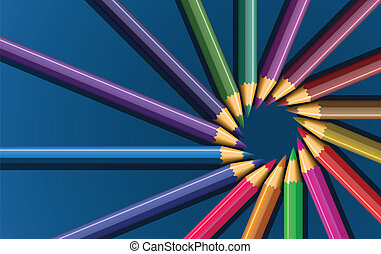 colored pencils - vector set of colored pencils Image...
