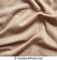Creased cloth material - Creased beige cloth material...