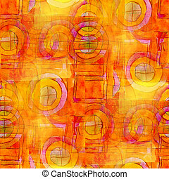 artist orange seamless cubism abstract art Picasso texture...