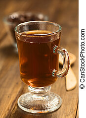 Hot Cacao Tea - Fresh hot chocolate herbal tea made of cacao...