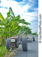 Vehicles used in agriculture.