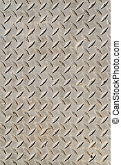 Cross-hatched metal plate - Cross-hatched metal anti-skid...