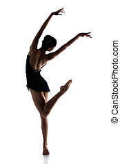 Female ballet dancer - Silhouette of a beautiful female...