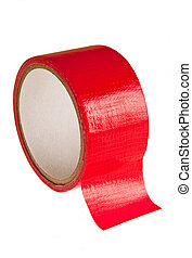 Red Duct Tape - cut Red Tape as symbol for legal documents
