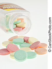 Colorful Tablet Pills - Candy form pastel colors for...