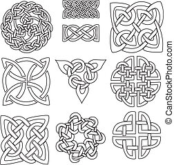 Celtic symbols - a set of ten Celtic designs ready to be...