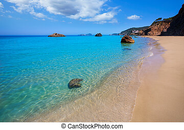 Ibiza Aigues Blanques Aguas Blancas Beach at Santa Eulalia...