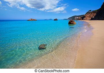 Ibiza Aigues Blanques Aguas Blancas Beach at Santa Eulalia...