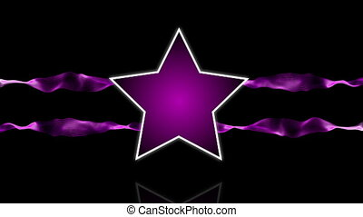 Star logo purple - Star logo animation with abstract stripes...