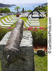 Pirate garden - Fragment of sculpture garden at the tropical...