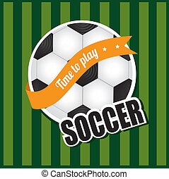 soccer ball over lineal background  vector illustration