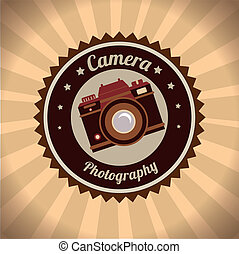 photography design - photography camera design over grunge...