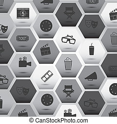movie icons over gray background vector illustration