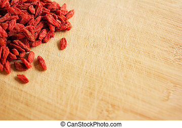Dried goji berries - Pile of healthy red natural dried goji...