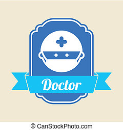 medical icon over pink  background vector illustration