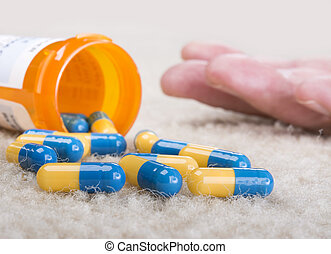 Overdose - A person overdoses on prescription medication and...
