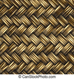 basket weave - great background image of wooden bambo or...
