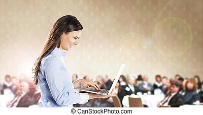 Business conference - Public indoor business conference for...