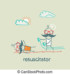 resuscitation in a hurry to sick patient