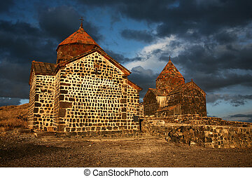 Old small stone church in Armenia