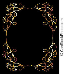 tattoo tribal gold frame vector art