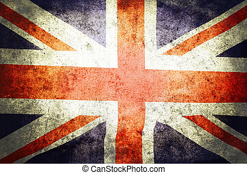 Union Jack  - Closeup of grunge Union Jack flag