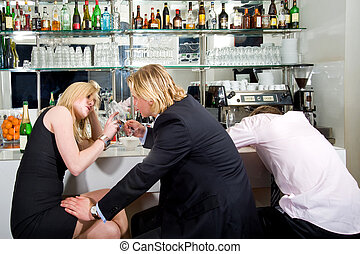 flirting at a bar