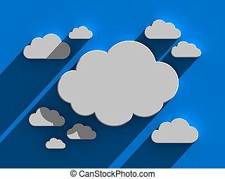 Cloud background. Conceptual 3d image