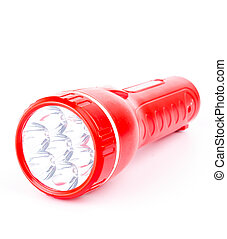 Flashlight on white background