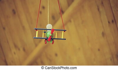 Hanging lamp - Kids pendant lamp in the form of aircraft