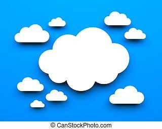 Cloud metaphor. Wallpaper with cloud