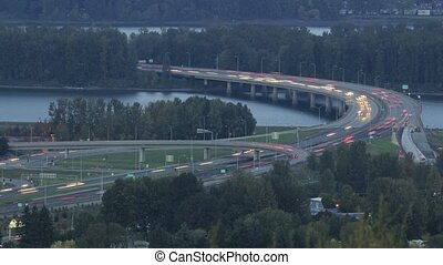 Evening Rush Hour Traffic on I205 - Evening Rush Hour...