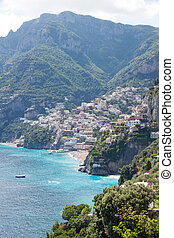 Positano, Costiera Amalfitana, Italy - Panoramic view of...