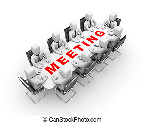 Meeting - Business concept. Isolated on white