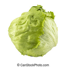 Green Iceberg lettuce - Fresh Green Iceberg lettuce with...