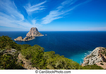 Ibiza Es Vedra and Vedranell from Torre des Savinar Sant...