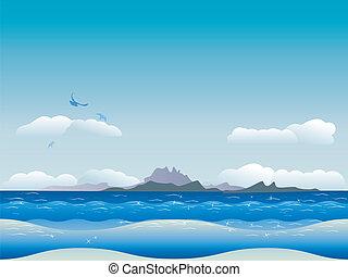 Islands in ocean